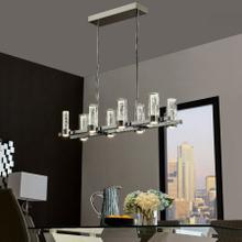 See Details - Sparkling Night LED Rectangular Chandelier// 8 Lights