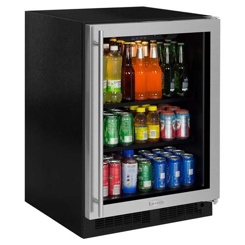 24-In Built-In High-Capacity Beverage Center with Door Swing - Right