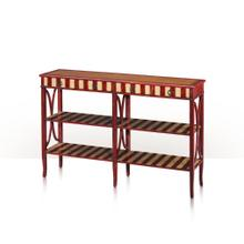 View Product - Parisian Double Console, Rouge & Ivory