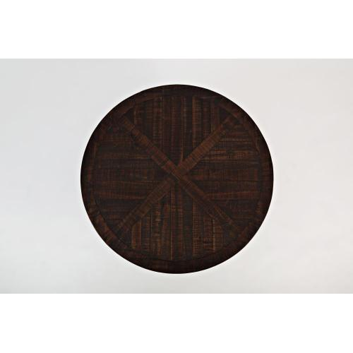 """Pacfic Heights 32"""" Round Pedestal Cocktail Table- Chestnut"""
