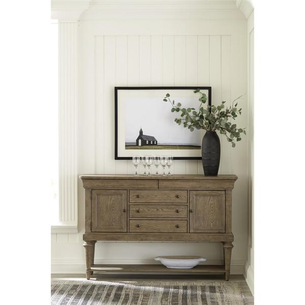See Details - Louis Farmhouse - Sideboard - Antique Oak Finish