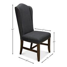 Black High Back Dining Chair