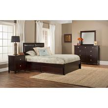 Metro 4pc Espresso Bedroom with Martin Queen Storage Bed