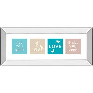"""""""Words Of Kindness Il"""" By The Vintage Collection Mirror Framed Print Wall Art"""