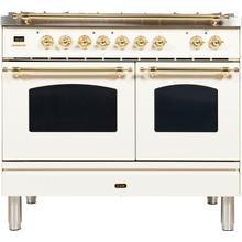 40 Inch Antique White Dual Fuel Natural Gas Freestanding Range