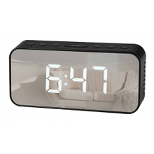 Mirrored Alarm Clock with Snooze & Count Down Timer