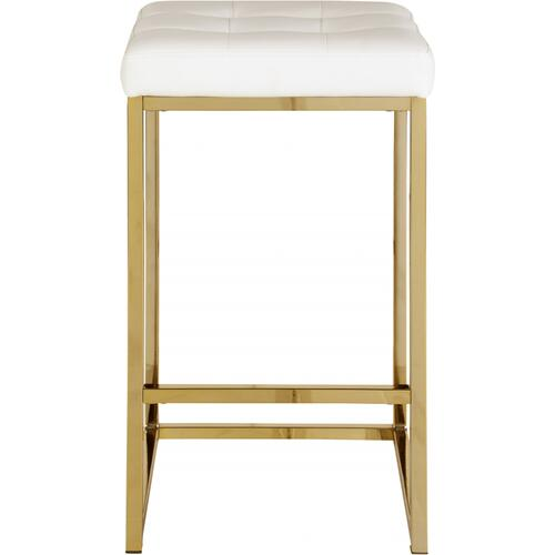 "Nicola Faux Leather Counter Stool - 15"" W x 15"" D x 26.5"" H"