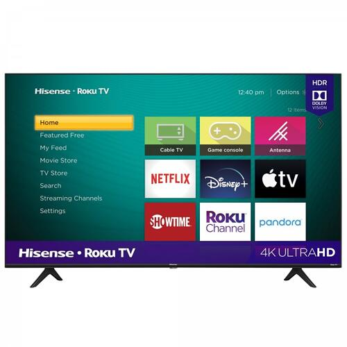"""55"""" Class - R6 Series - 4K UHD Hisense Roku TV with HDR (2020) SUPPORT"""