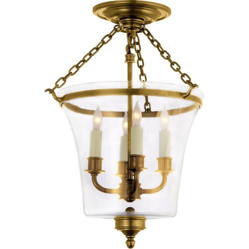 Visual Comfort CHC2209AB E. F. Chapman Sussex 4 Light 12 inch Antique-Burnished Brass Semi-Flush Ceiling Light