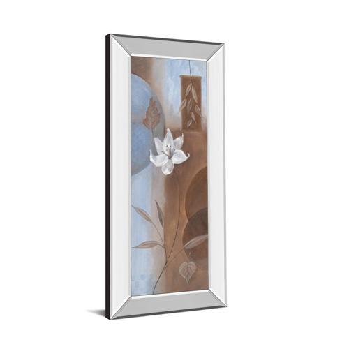 """White Flower Il"" Mirror Framed Print Wall Art"