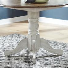 Product Image - Drop Leaf Table Base- White