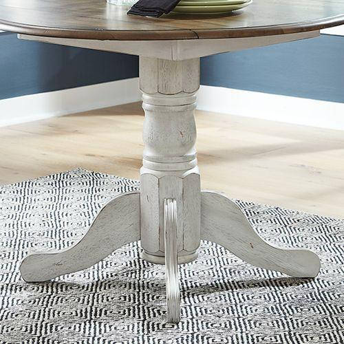 Drop Leaf Table Base- White