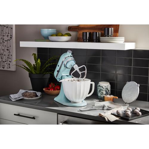 KitchenAid - 5 Quart White Shell Ceramic Bowl