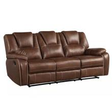 Katrine Manual Reclining Sofa, Brown