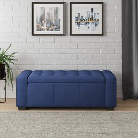 Emerald Home Gavyn Storage Bench Navy Blue