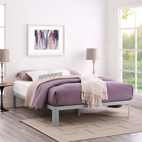 Corinne King Bed Frame in Gray