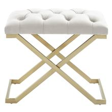 Rada Bench in Ivory/Gold