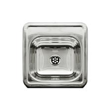 """Decorative Prep square, drop-in entertainment/prep sink with a smooth surface and a 2"""" center drain."""