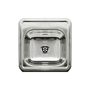 "Decorative Prep square, drop-in entertainment/prep sink with a smooth surface and a 2"" center drain. Product Image"