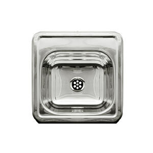 """Decorative Prep square, drop-in entertainment/prep sink with a smooth surface and a 2"""" center drain. Product Image"""
