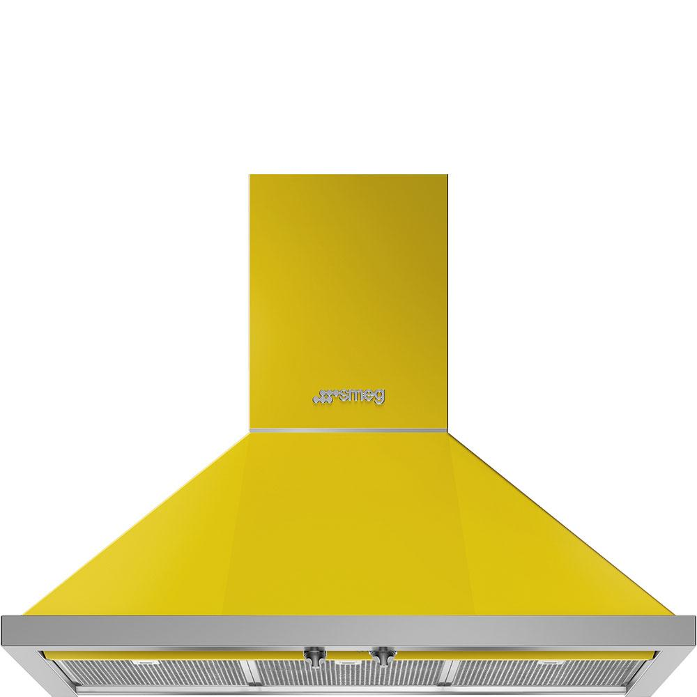 "Smeg36"" Portofino Chimney Hood, Yellow"