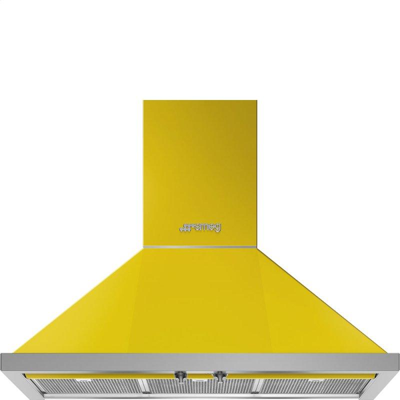 "36"" Portofino Chimney Hood, Yellow"