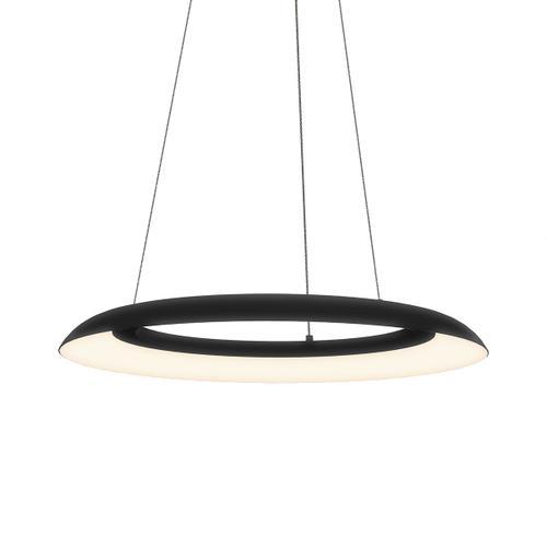 """Sonneman - A Way of Light - Torus LED Pendant [Size=24"""", Color/Finish=Satin Black]"""