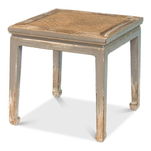 Square Table/Stool With Rattan