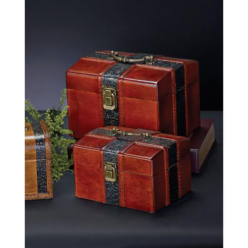 Faux Mahogany Wood Box Set