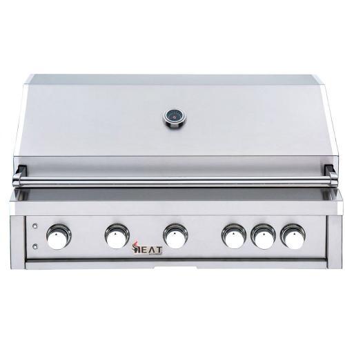 "HEAT 40"" 5-Burner Gas Grill w/ Infrared Burner - NG"