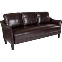 Product Image - Asti Upholstered Sofa in Brown LeatherSoft