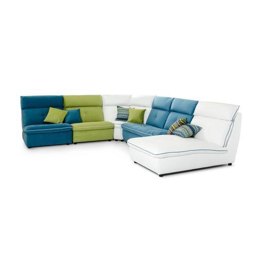 David Ferrari Spritz Italian Modern Leather & Fabric Sectional Sofa