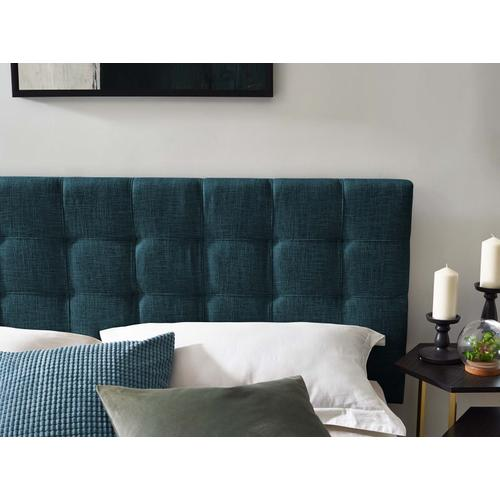 Modway - Paisley Tufted King and California King Upholstered Linen Fabric Headboard in Azure