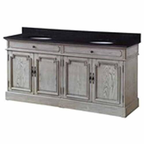 """Crestview Collections - Isabelle 4 Louvered Doors 72"""" Double Vanity Sink"""