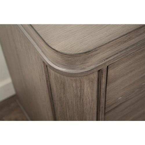 Three Drawer Nightstand - Gray Wash Finish