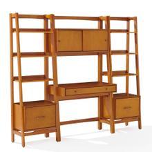 See Details - Landon 3pc Desk and Etagere Set