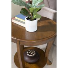 1-shelf and Round Top Accent Side Table, Hazelnut
