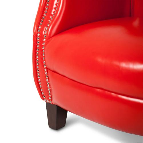Bladen Leather Accent Chair Flamered Espresso