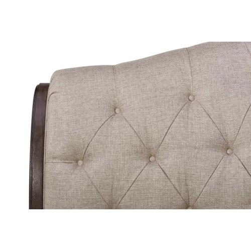 Vintage Salvage Lanza Upholstered Tufted Queen Bed