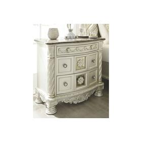 Cassimore Three Drawer Night Stand Pearl Silver
