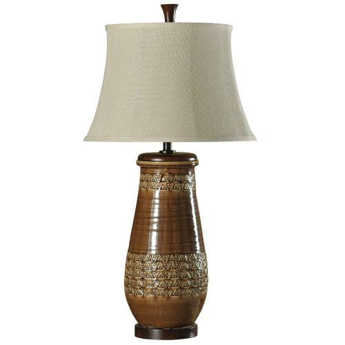 Ceramic Table Lamp in Hamden Finish Natural Linen Shade