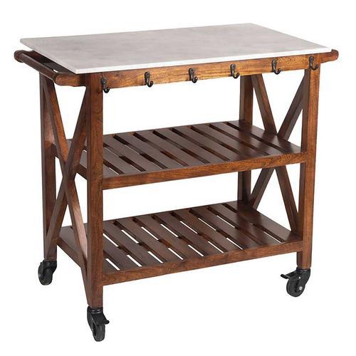 Marble Top Bar Cart