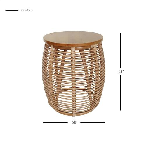 Product Image - Iris Rattan Side/ End Table, Honey