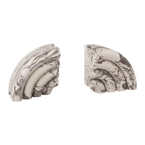 Tov Furniture - Grey Marble Bookends (Set of 2)