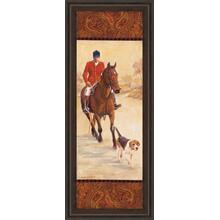 """On The Hunt I"" By Linda Wacaster Framed Print Wall Art"