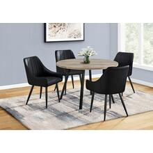 """See Details - DINING TABLE - 48""""DIA/ TAUPE RECLAIMED WOOD / BLACK METAL"""