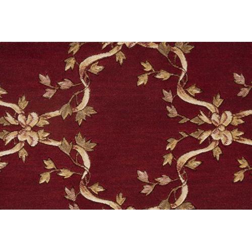 Ashton House Ribbon Trellis A01f Burgundy Broadloom