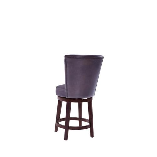 Upholstered 24 Inch Swivel Counter Stool in Chocolate Brown