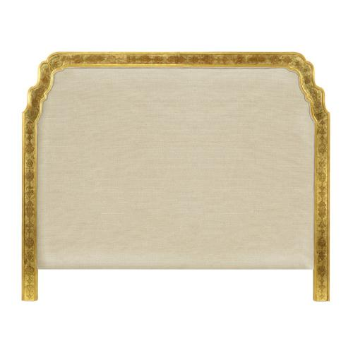 US Queen Gilded & glomise Headboard, Upholstered in MAZO