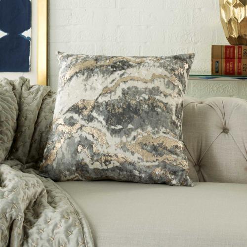 "Inspire Me! Home Decor Bj109 Charcoal 18"" X 18"" Throw Pillow"